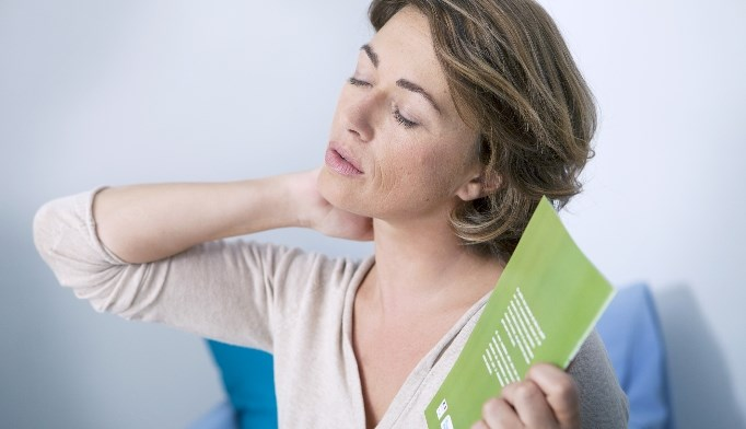 Vasomotor symptoms included hot flashes, night sweats, and sweating.