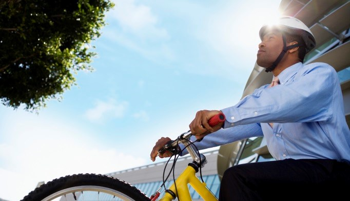 Study participants who reported bicycling to work were healthier, better educated, and more likely to be female.