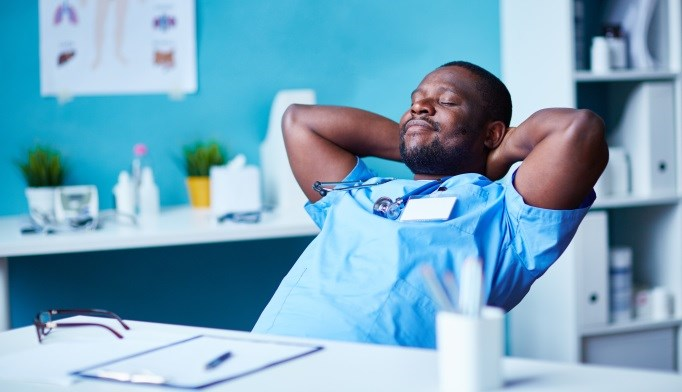 A room designated as a place for physicians to recover may be beneficial in combating burnout.