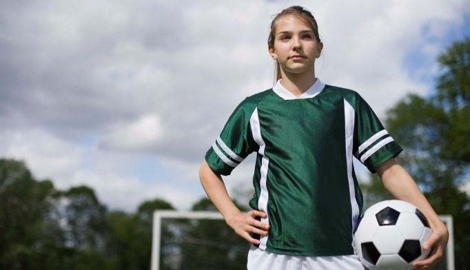 Young female athletes may be at risk for amenorrhea, osteoporosis, and eating disorders.