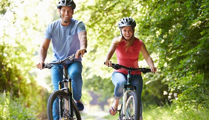 A brisk walk or a bike ride may counteract the health risks of sitting for 8 hours or more.