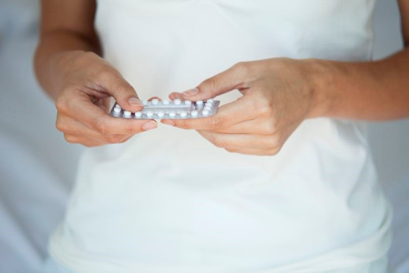 Long-term exposure to progestin-only oral contraceptives was associated with reduced rates of reported pain.