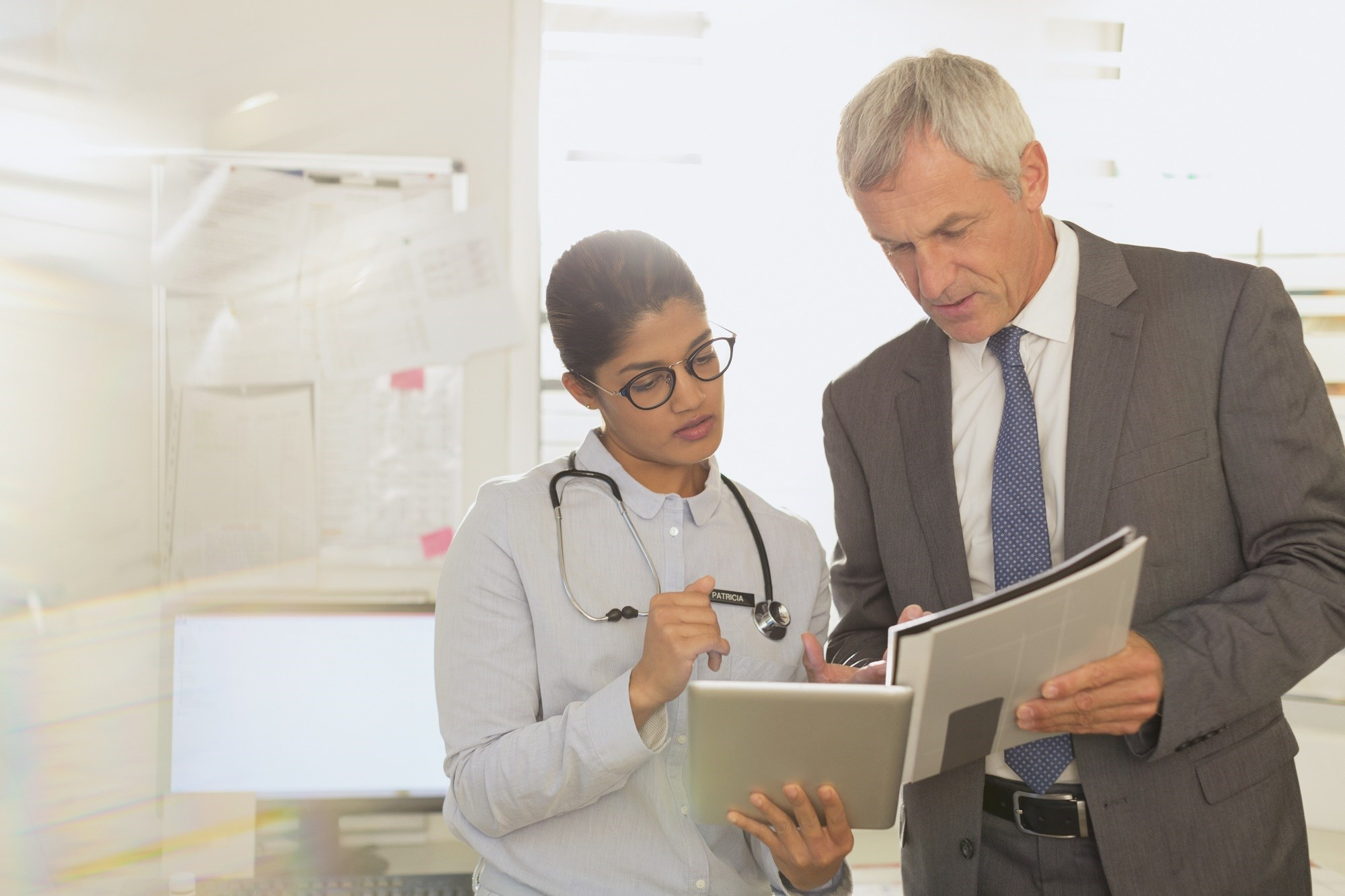 Having a Master of Business Administration degree an help doctors with important, practice-related decisions.